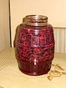 Grapes Fermenting in Jar (Day 3)